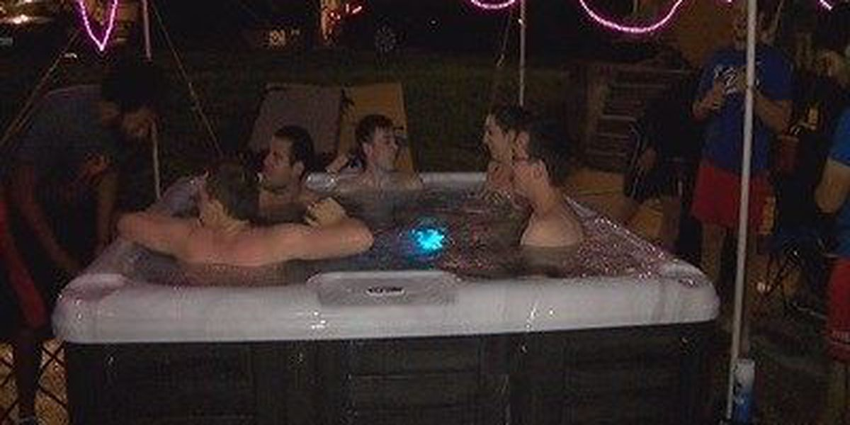 An Evansville fraternity hosts annual Hot-tub-athon