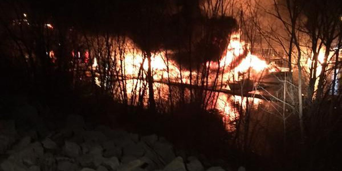 Three boats sink, two more damaged in Marina fire