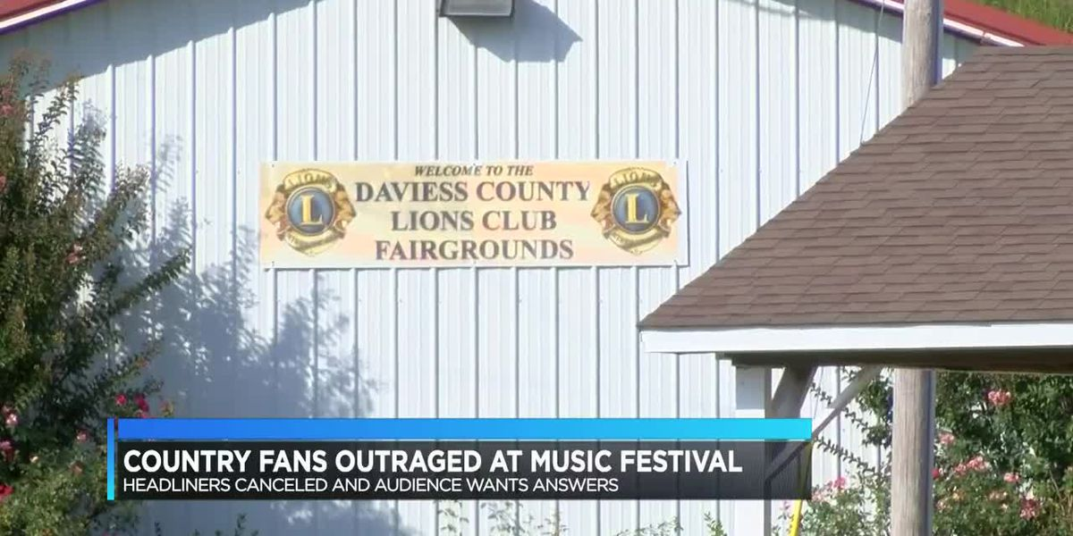 Country music fans outraged after headliners canceled