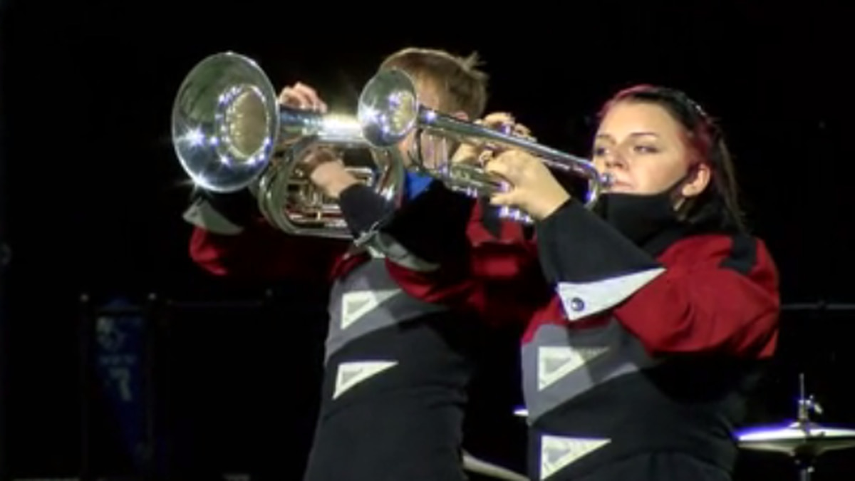 Marching bands get moment to shine at EVSC Band Showcase