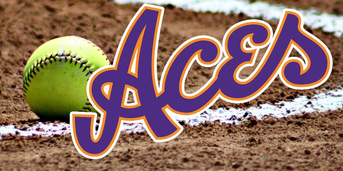Bats explode for Aces softball, earning split down south