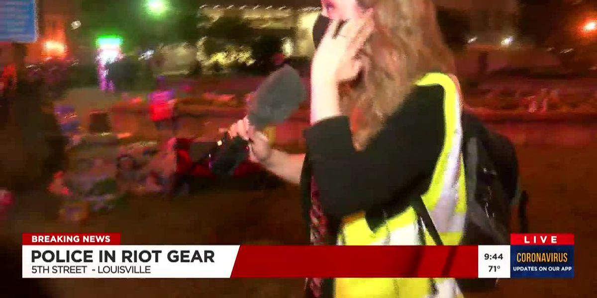 LMPD officer who fired pepper balls at WAVE 3 News crew reassigned pending investigation
