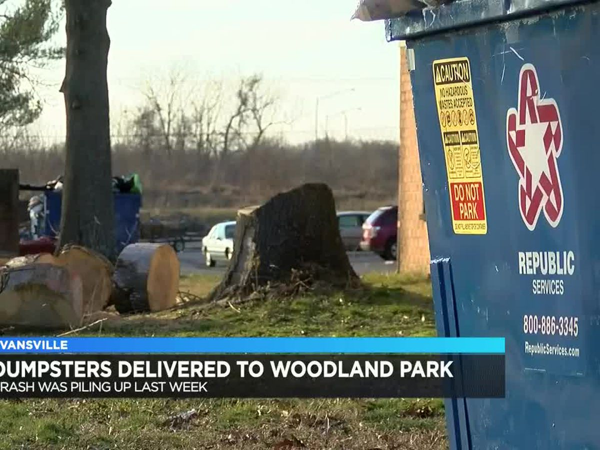 Dumpsters delivered to Woodland Park Apartments