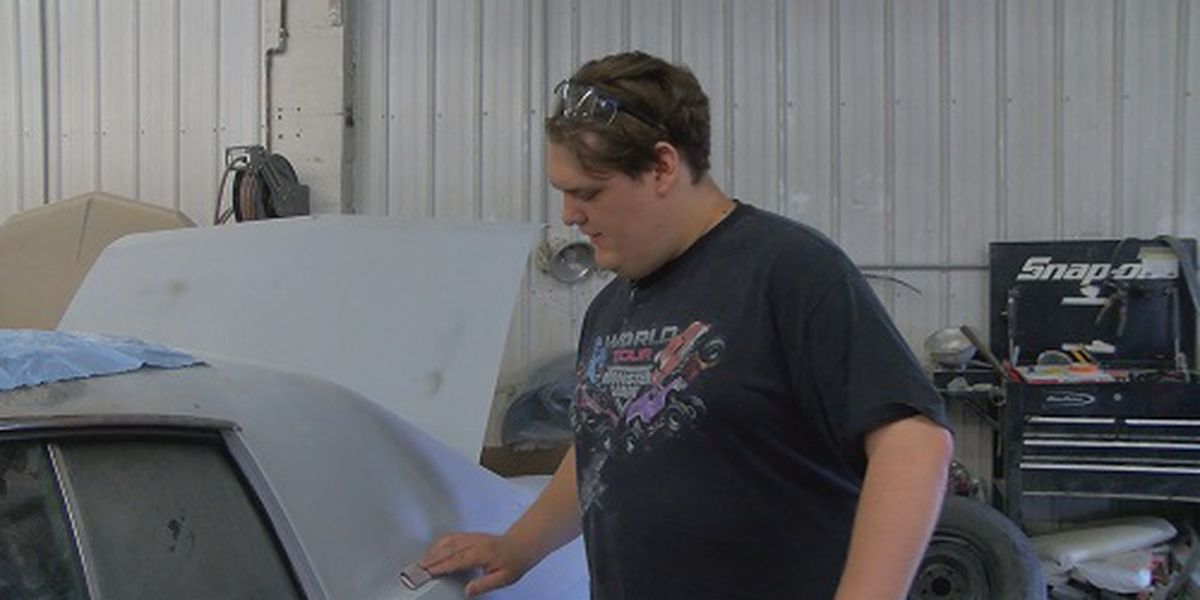 Local body shop helps man achieve goal of building a monster truck