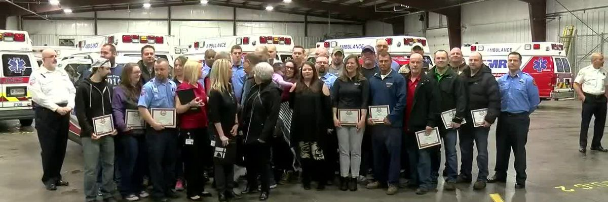 Evansville man meets first responders who worked together to save his life