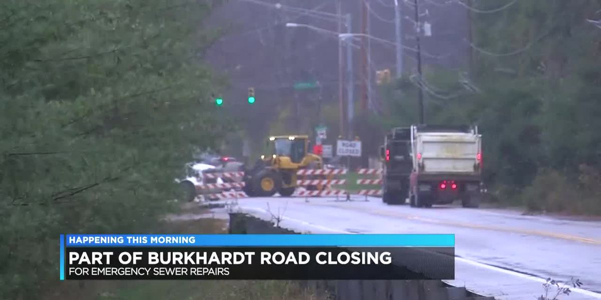 Traffic Alert: Closure on S. Burkhardt Rd. for emergency sewer repairs