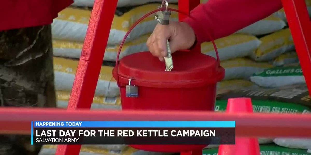 Last day for Salvation Army's Red Kettle Campaign
