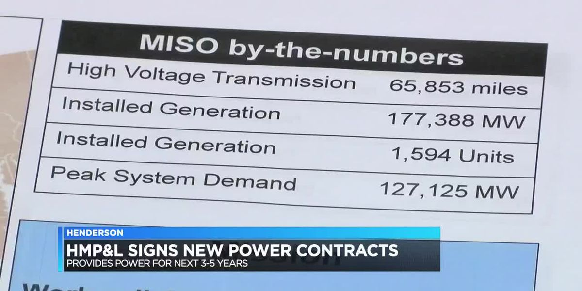 HMP&L signs new contracts to provide power to next 3-5 years