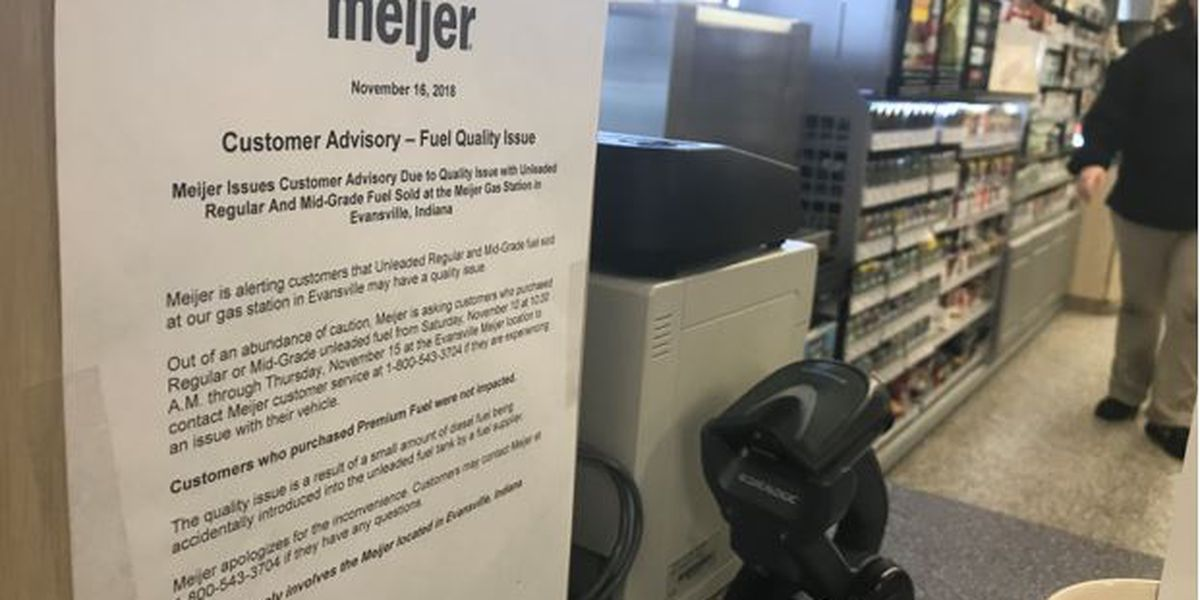'Bad gas' also sold at Evansville Meijer, employees say issue now resolved
