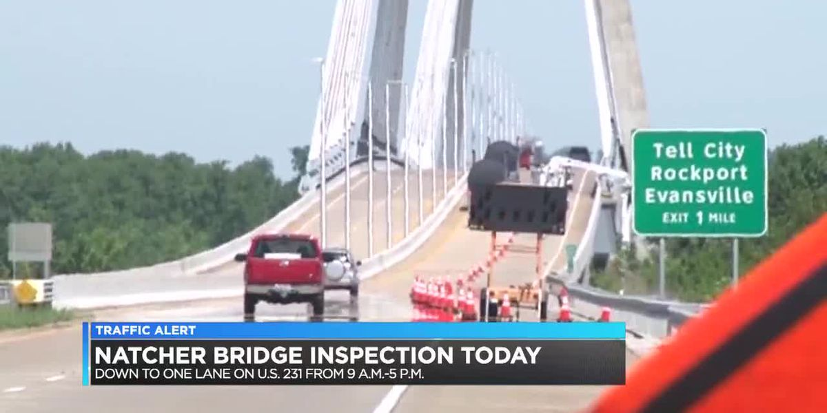 Traffic Alert: Inspection planned for Natcher Bridge