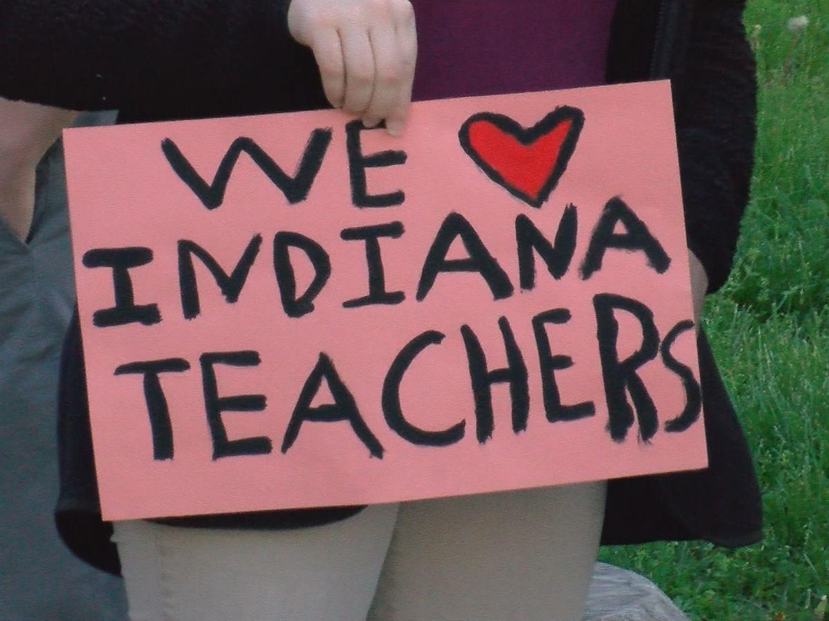 Teachers stage 'walk-in' to send message to legislators