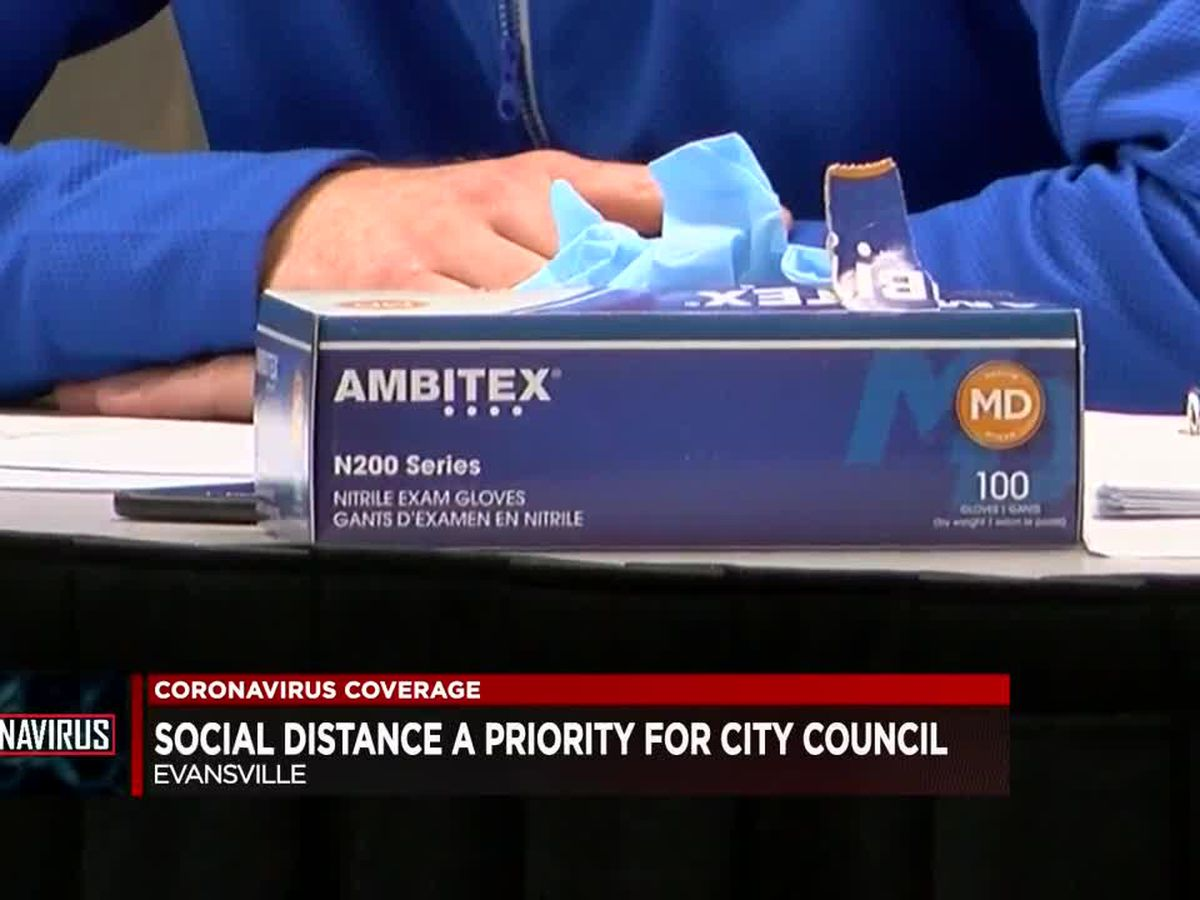 Evansville city officials make social distancing a priority in meetings