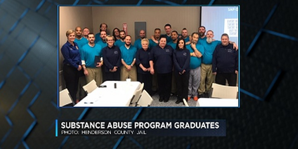 First class graduates from new substance abuse program at Henderson Co. Jail