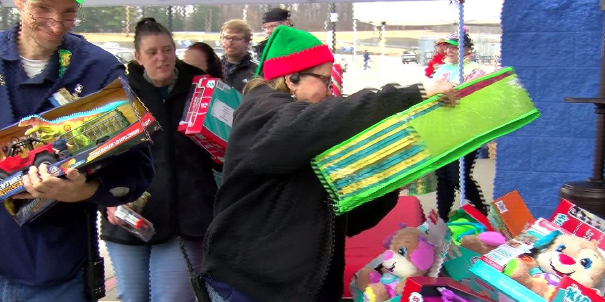 Toy Town Drive held at west side WalMart