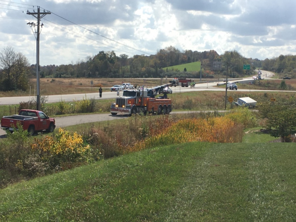 ISP: SR 162 back open after crash involving semi, 1 flown to hospital