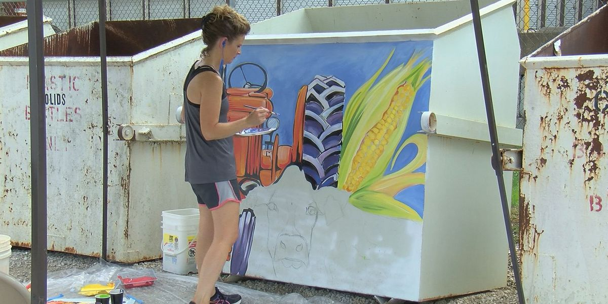 Beautification project brings a touch of art to Dubois Co. trash site