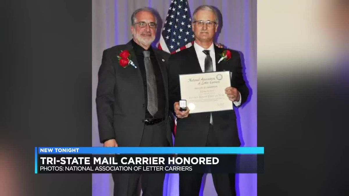 Princeton mail carrier recognized for saving man, dog