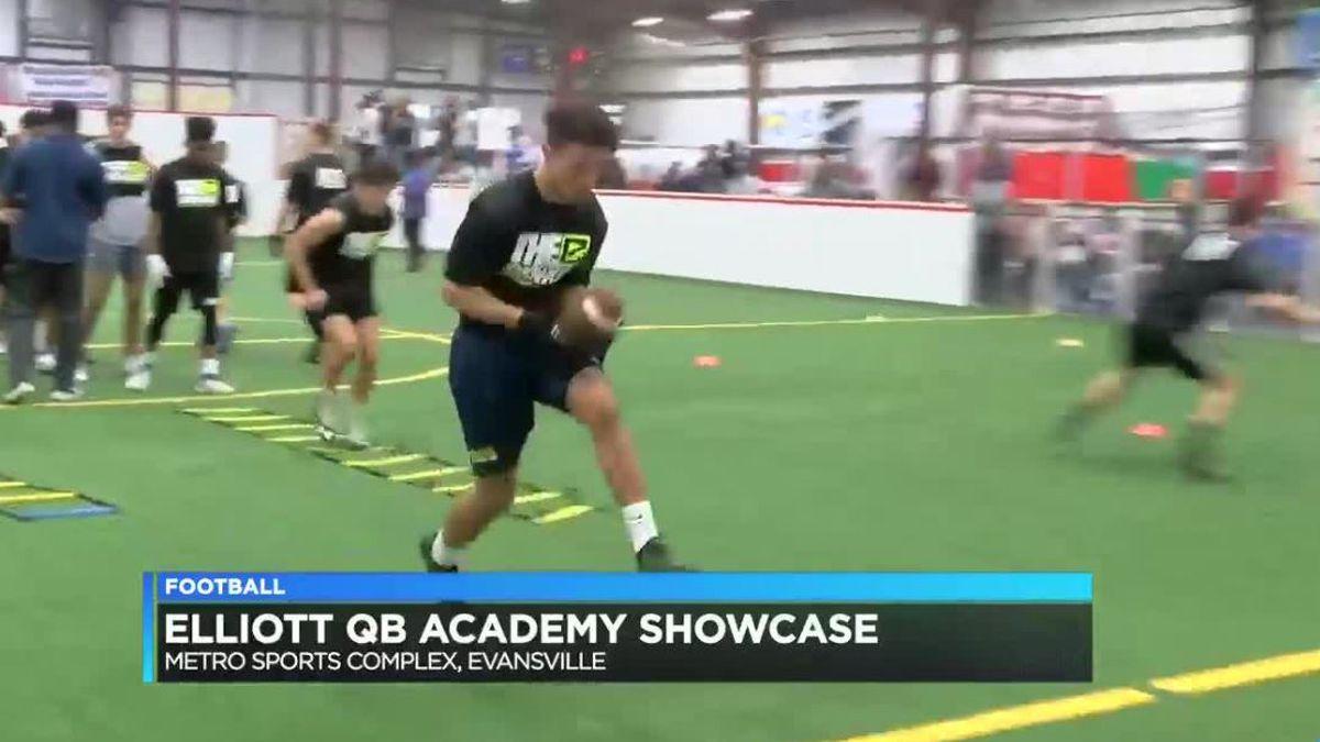 Local H.S. Footballers Show Their Skills at Elliott Skills Camp