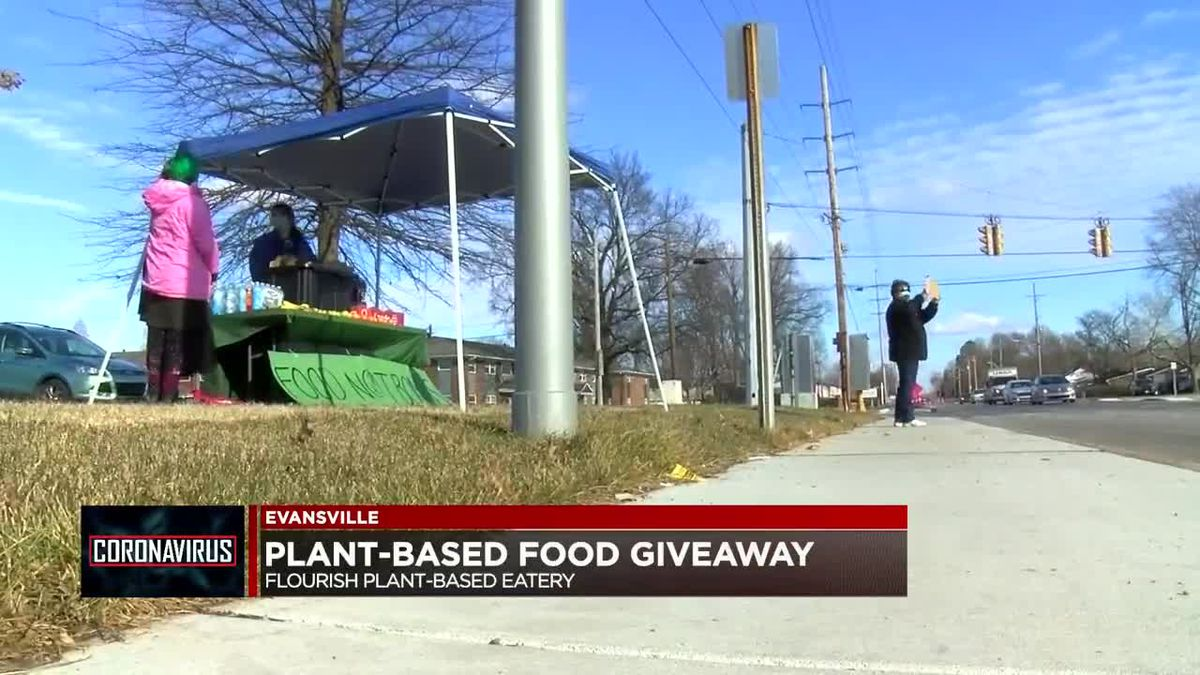 Evansville business, organization hand out free food Monday to those in need