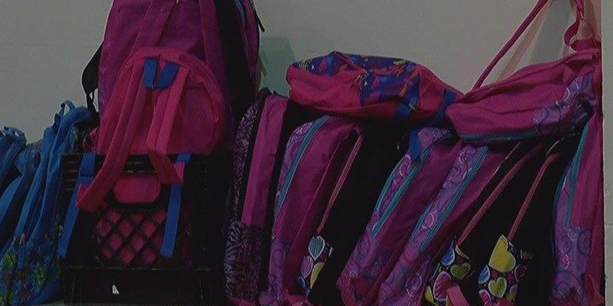 School supplies handed out at Veterans Coliseum