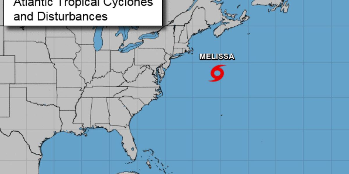 Tropical Storm Melissa forms off northeast; will weaken