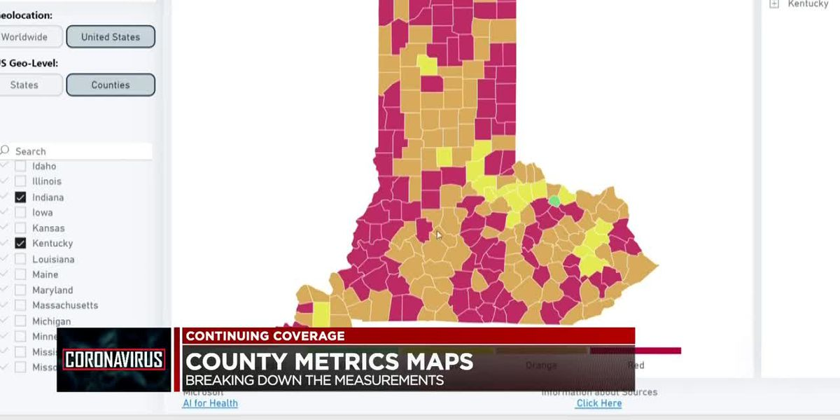 Breaking down COVID-19 county metrics maps