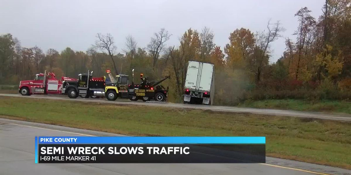 A wreck involving a semi had traffic at a standstill on I-69 near the Pike/Warrick County line Thurs
