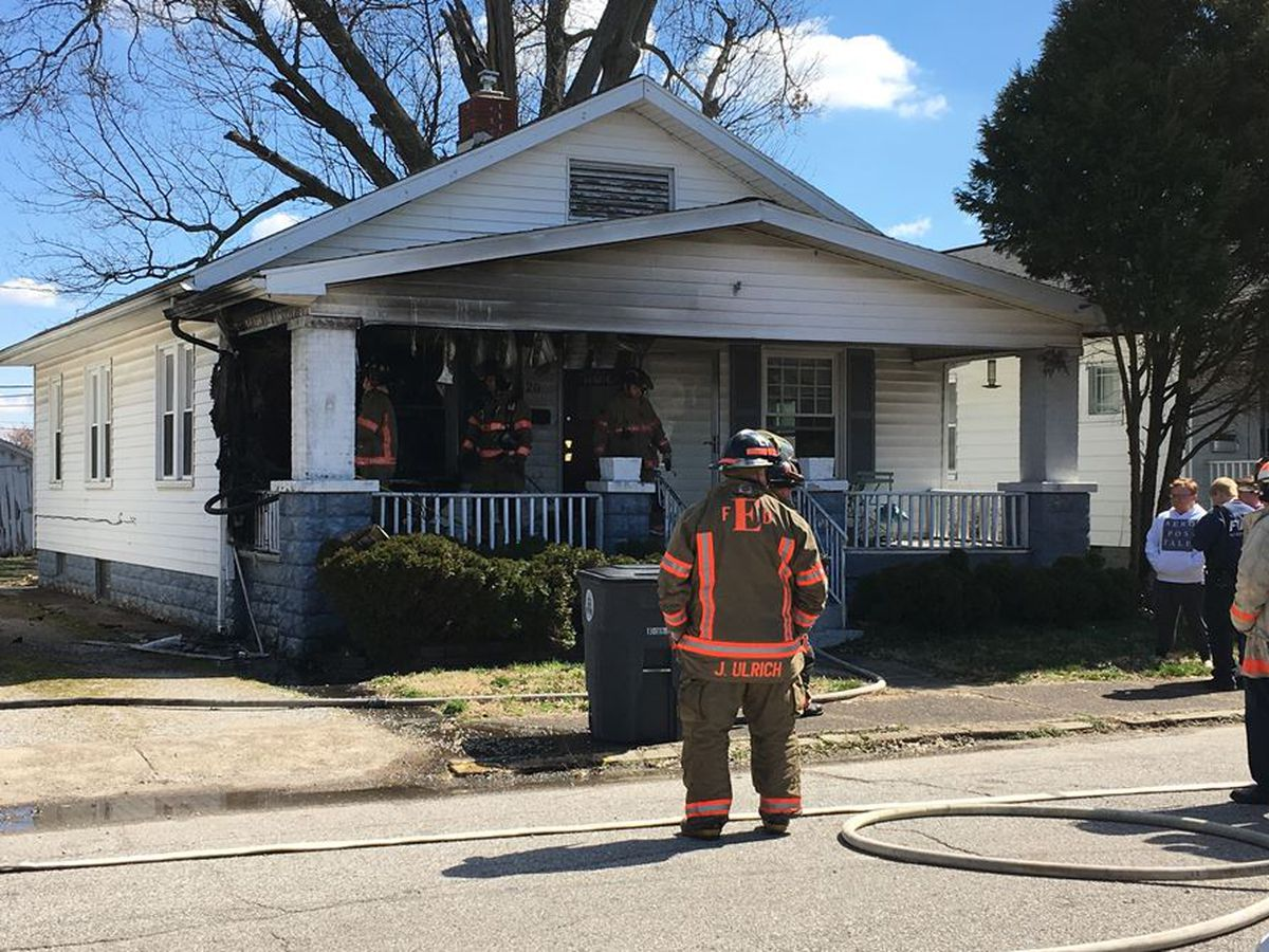 Evansville home damaged by fire