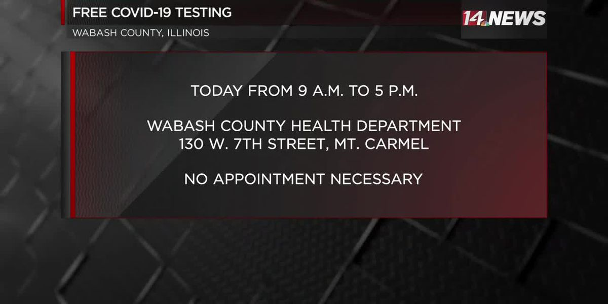Free COVID-19 testing Thursday in Mt. Carmel