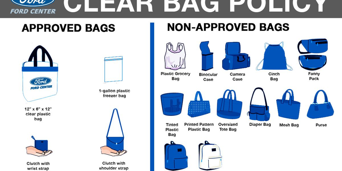 Ford Center begins clear bag policy