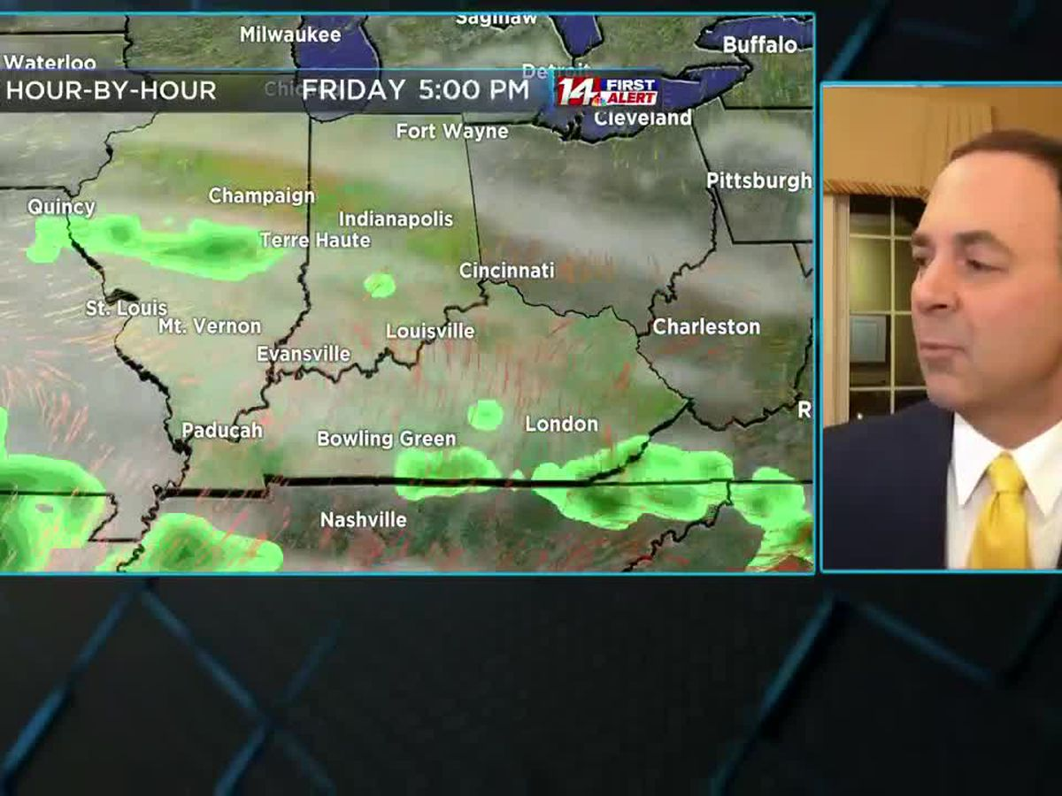 Rain ending, much warmer for the end of the week