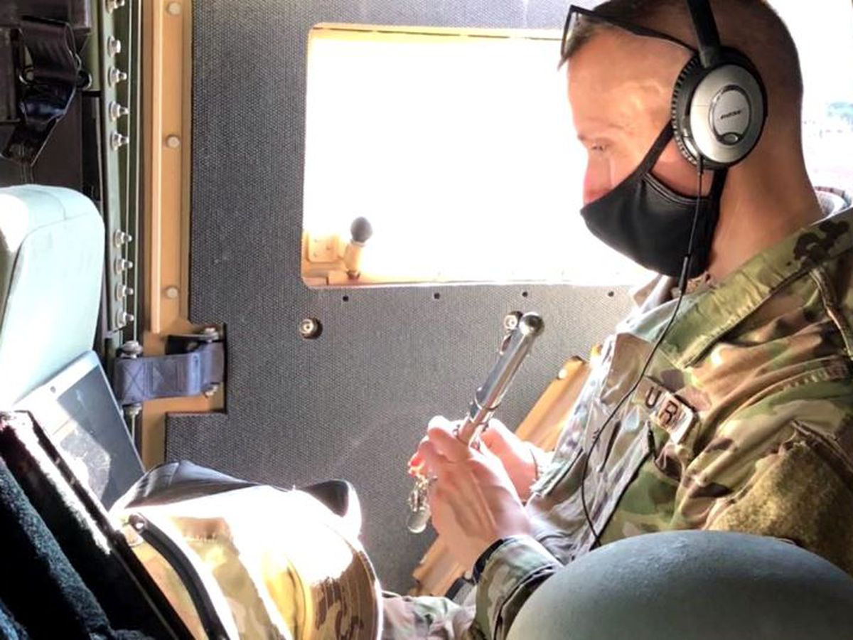 Music teacher continues class while protecting US Capitol with National Guard