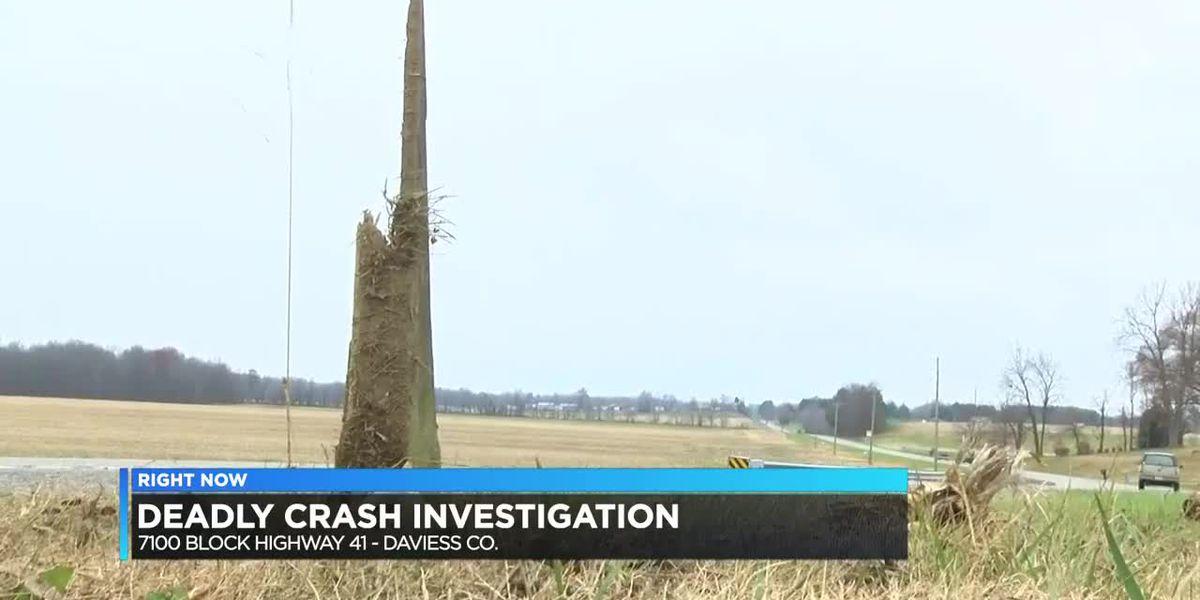1 killed in single-vehicle crash in Daviess Co.