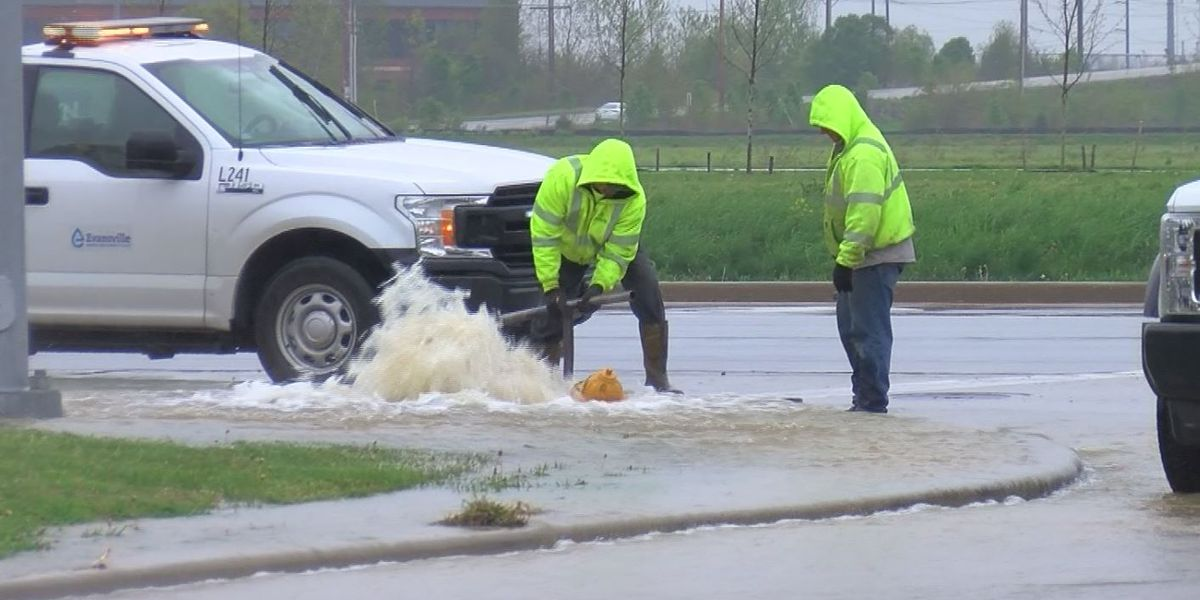 Police: Driver hits fire hydrant, takes off leaving big mess behind