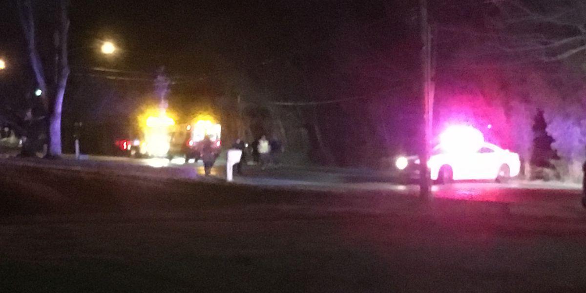 Crews on scene of accident along Stringtown Rd. & Cardinal Dr.