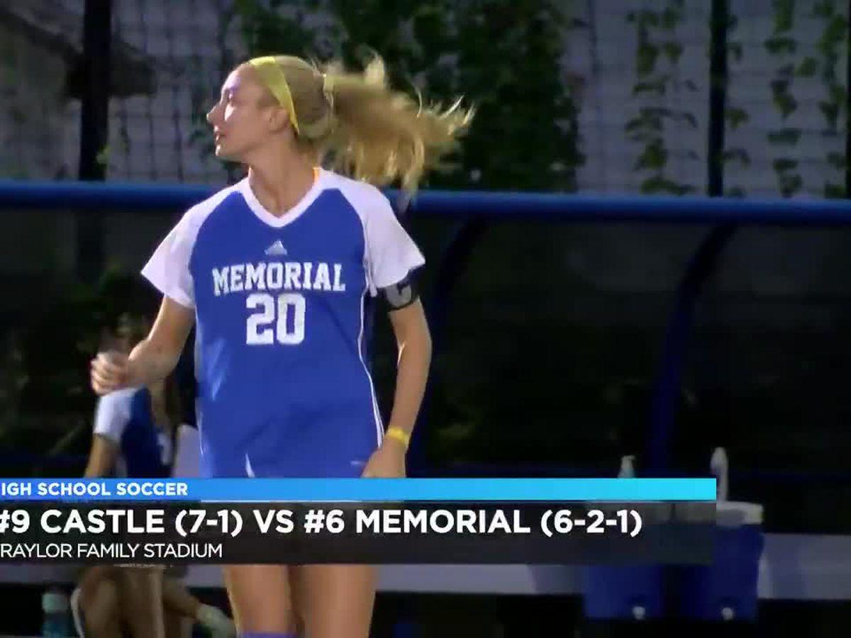 3A HS girls soccer: #9 Castle vs #6 Memorial