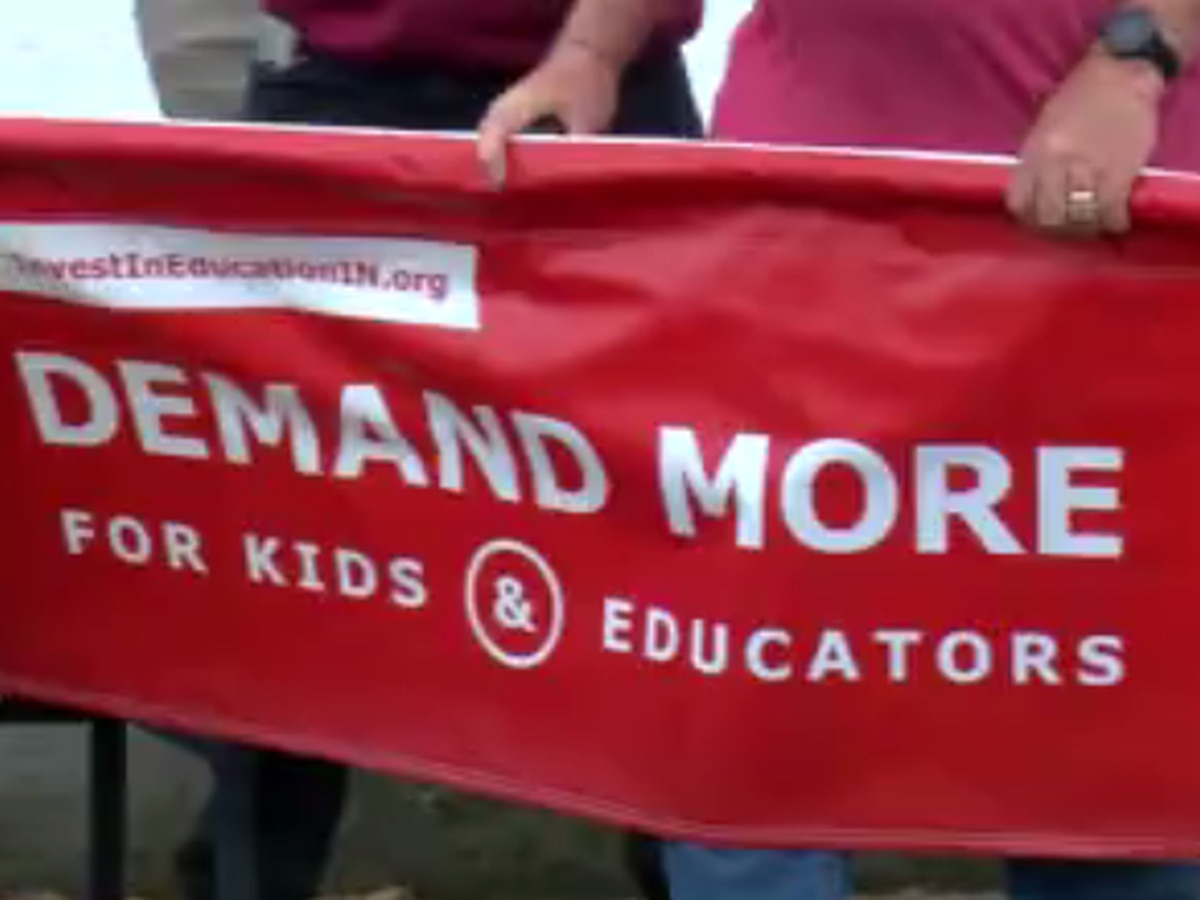Teachers organize rally to advocate for fair funding in public schools