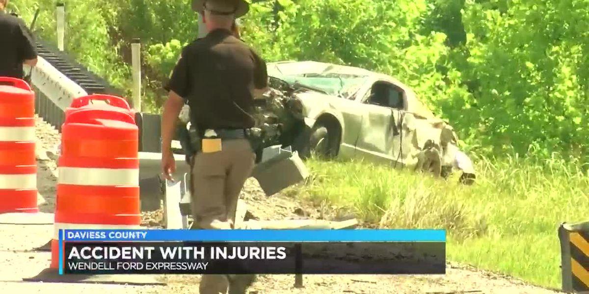Man hurt in Owensboro bypass crash