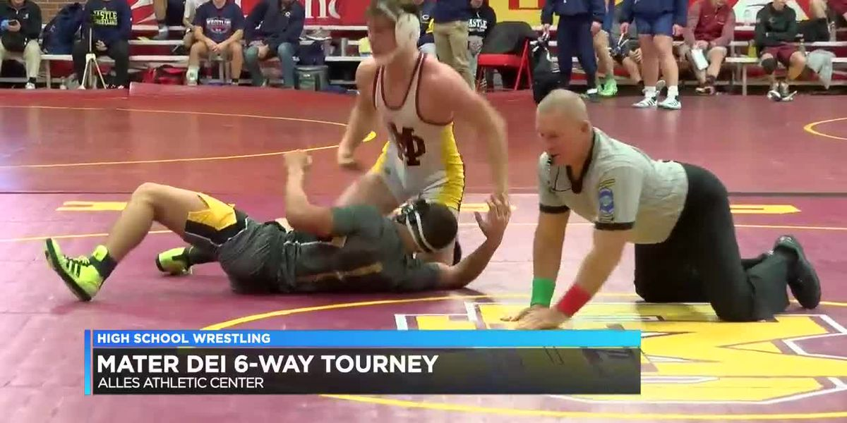 HIGHLIGHTS: Mater Dei six-way high school wrestling tournament