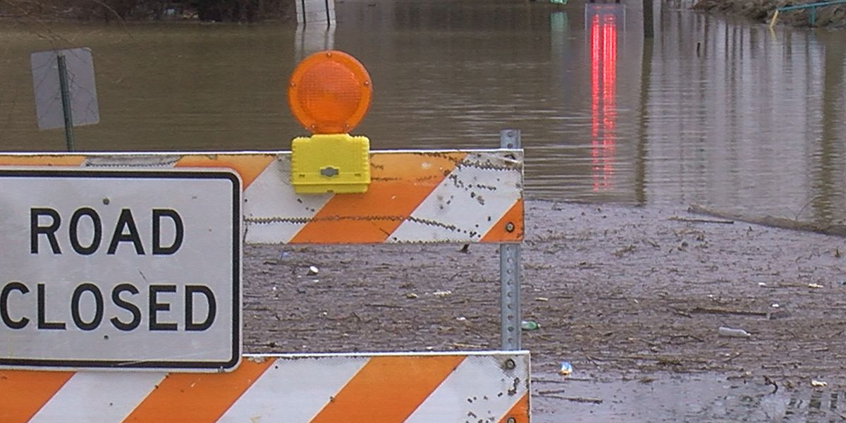 Officials warn about flooded roads as river levels rise