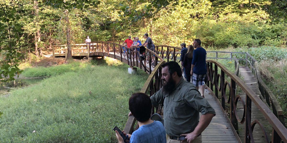 Steel bridge dedicated at Audubon Park