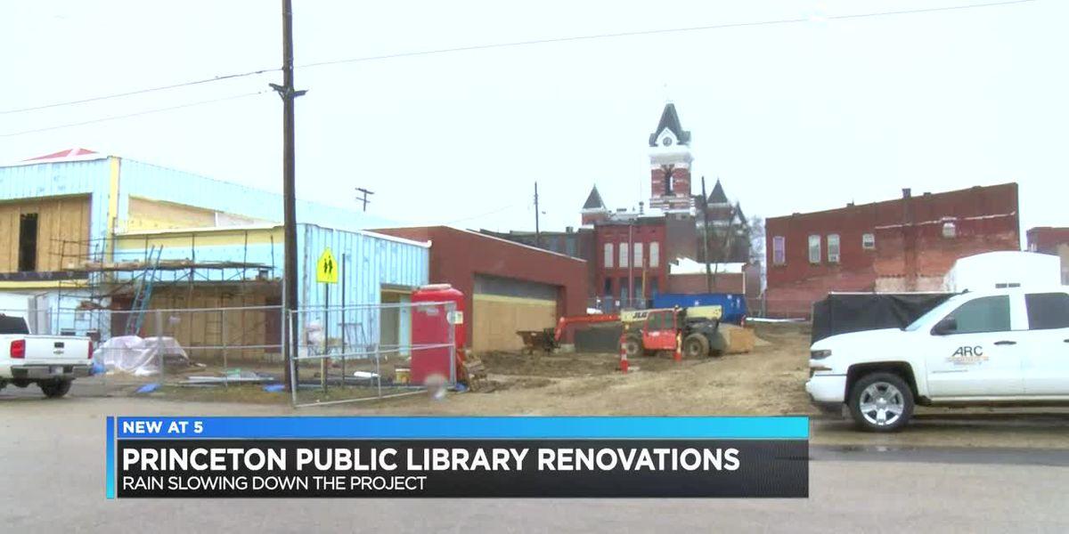 Weather slowing renovation progress of Princeton Public Library