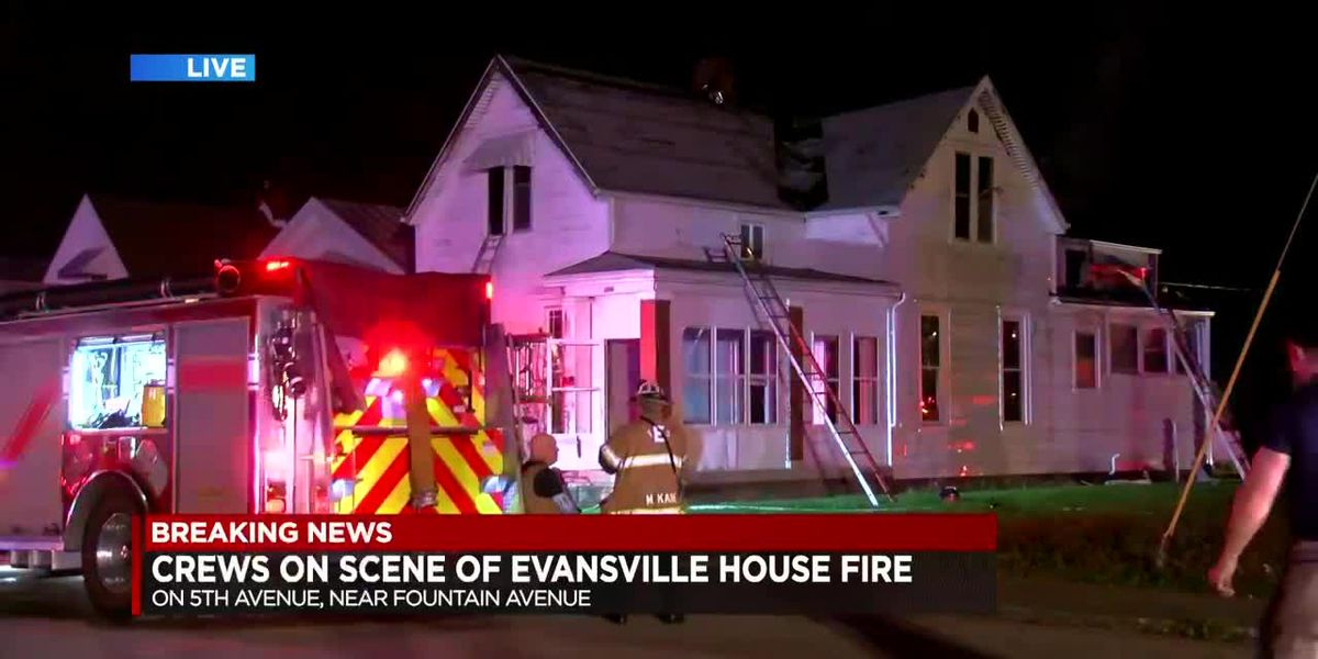 Crews fight fire at Evansville home
