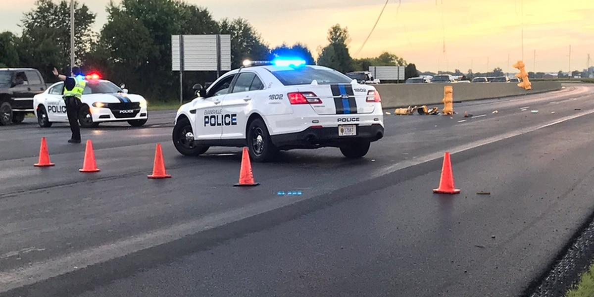 Stoplights knocked down on Morgan Ave near I-69