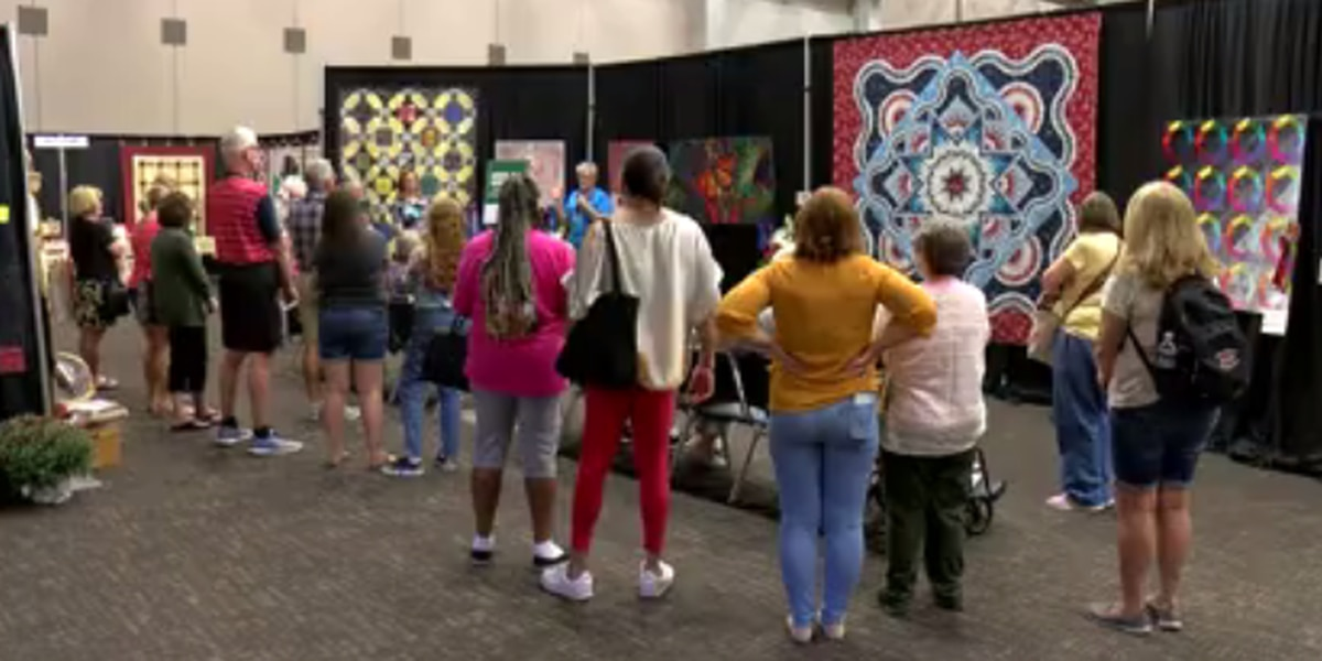 Sat. was 13th annual Harvest of Quilts event in Evansville
