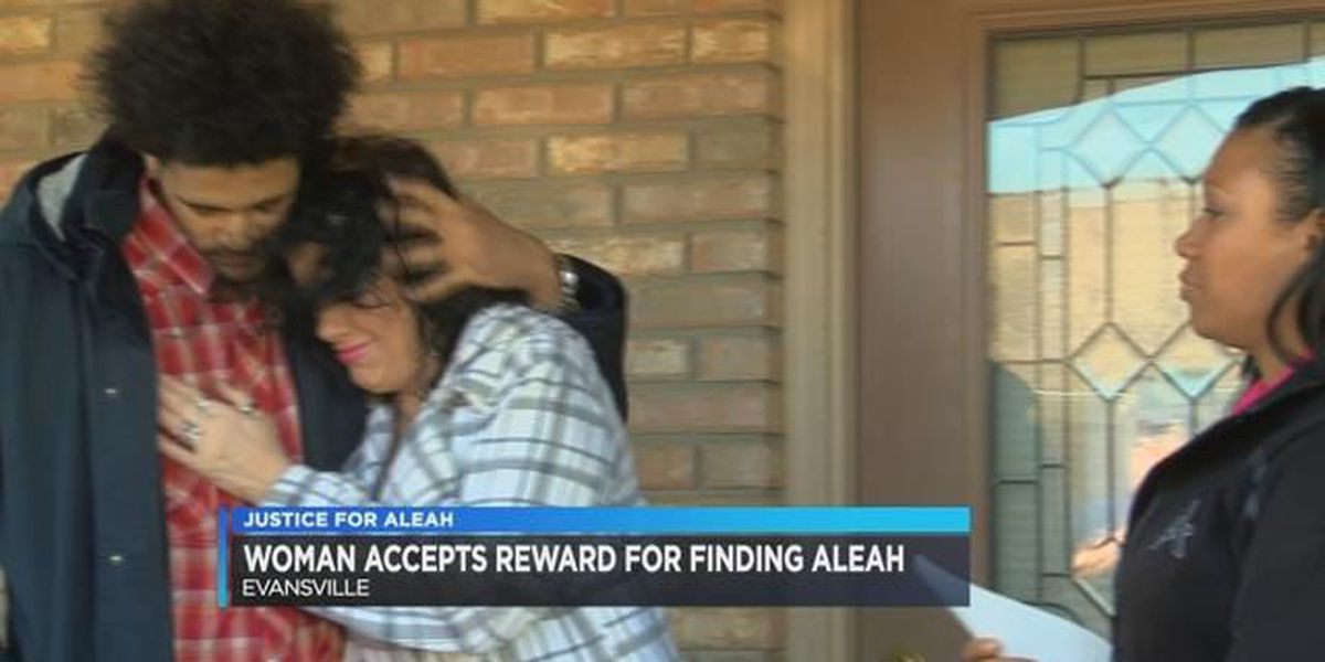 Woman who found Aleah Beckerle's body in an vacant house in Evansville collects reward