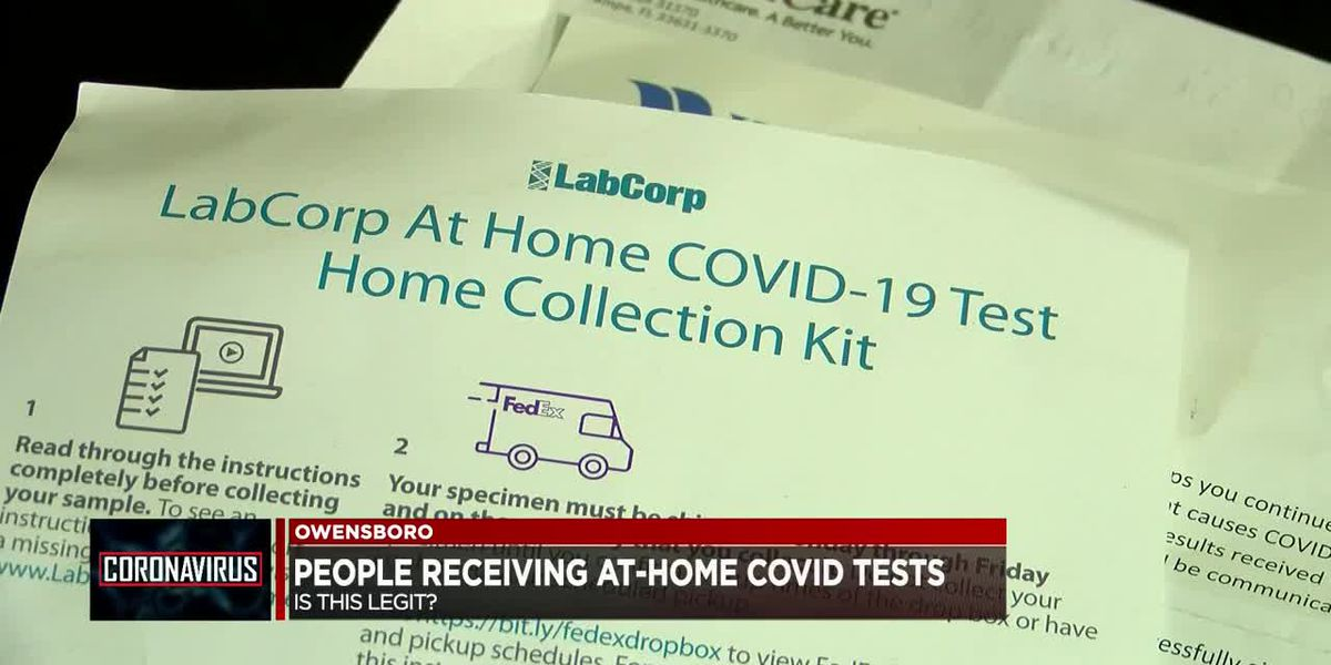 Owensboro residents receive random COVID-19 testing kits in mail