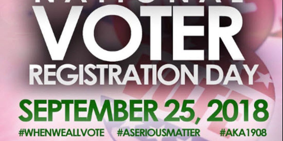 Groups help residents on National Voter Registration Day