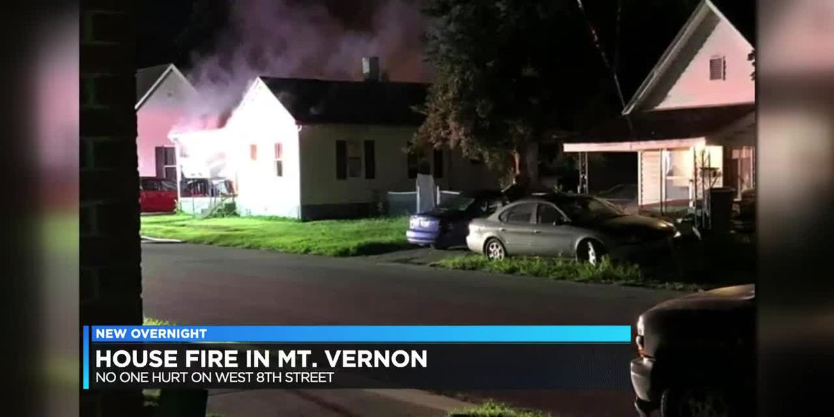 Crews respond to house fire in Mt. Vernon overnight