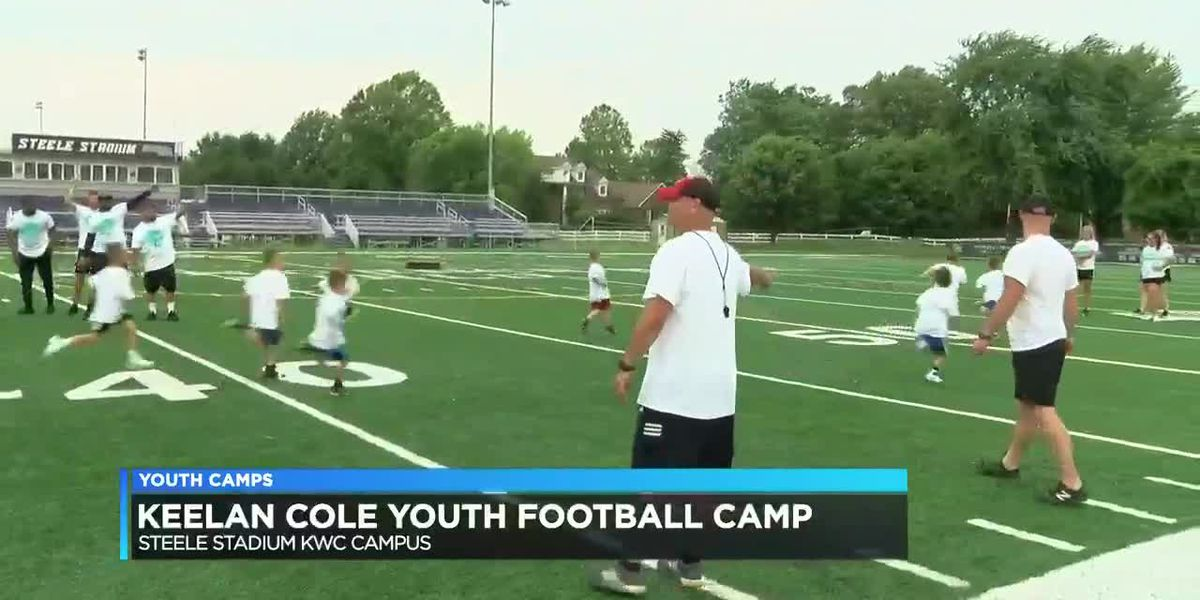 Jacksonville Jaguars' Keelan Cole hold football camp in Owensboro, Ky.